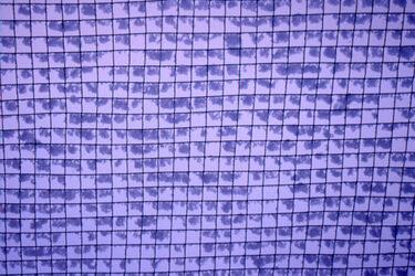 64 野球ネットに付いた新雪